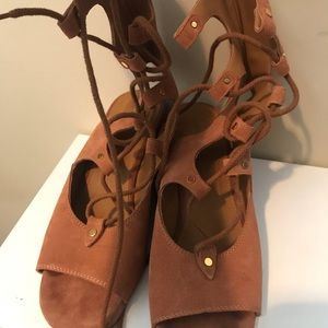 Chloe suede gladiator sandals